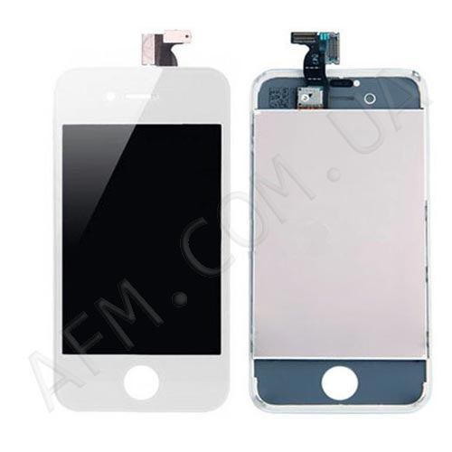 LCD iPhone 4G white with touch screen in frame