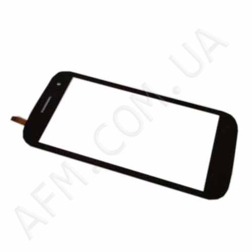 Touch screen (Sensor) Fly IQ451 Black с самоклейкой