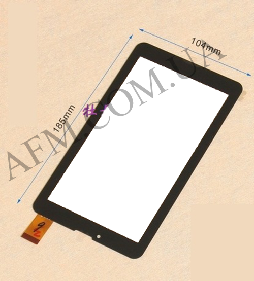 Сенсор (Touch screen) Nomi (104*185) C07000/ C07005/ C07008/ C07009 Rev 1/ A07005 чёрный