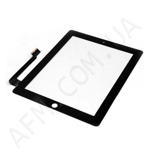 Touch screen (Sensor) iPad 3/ iPad 4 black (с кнопкой home)